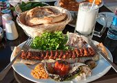 Adana kebab in turkish restaurant