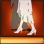 stock photo of debonair  - A vintage style Ballroom Dancing background illustration - JPG
