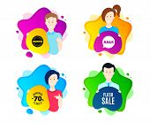 Flash Sale. People Shape Offer Badge. Special Offer Price Sign. Advertising Discounts Symbol. Dynami poster