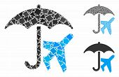 Aviation Umbrella Mosaic Of Humpy Parts In Various Sizes And Color Tinges, Based On Aviation Umbrell poster