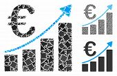Euro Bar Chart Mosaic Of Tremulant Parts In Various Sizes And Color Hues, Based On Euro Bar Chart Ic poster