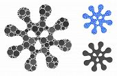 Virus Composition Of Round Dots In Different Sizes And Shades, Based On Virus Icon. Vector Round Ele poster