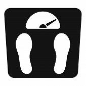 Overweight Scales Icon. Simple Illustration Of Overweight Scales Vector Icon For Web Design Isolated poster