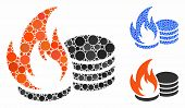 Coins Fire Disaster Composition Of Round Dots In Variable Sizes And Color Tints, Based On Coins Fire poster