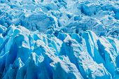 Detail of a old turquoise ice of Perito Moreno glacier. Los Glaciares national park, Argentina poster