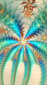 Fractal swirled galactic