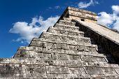 Kukulkan Pyramid Looming Above Chichen Itza