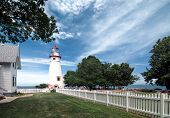 foto of marblehead  - Marblehead Lighthouse. Located on the shores of Ohio