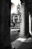 Black And White Of Rome Campidoglio The Seat Of The Rome Local Government poster