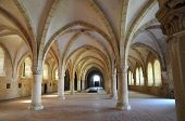The Dormitory Of Alcobaca Monastery In Portugal