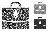 Ethereum Accounting Case Composition Of Trembly Pieces In Various Sizes And Shades, Based On Ethereu poster