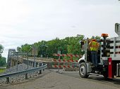 New Harmony, Indiana - 21:  Wabash Bridge Closes a Week Early.