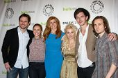 LOS ANGELES - MAR 9:  Esten, Hayden Panettiere, C Britton, Bowen, Palladio and  Jonathan Jackson arr
