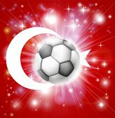 Turkey Soccer Flag