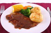 Crumbed Steak Dinner