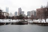 Charlotte Skyline In Snow