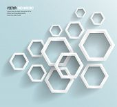 pic of hexagon  - Vector abstract background Hexagon - JPG