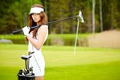 picture of caddy  - Woman and golf - JPG