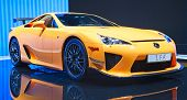 GENEVA - MARCH 8: The Lexus(Toyota) LFA on display at the 81st International Motor Show Palexpo-Gene