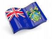 3D Bandeira das Ilhas pitcairn