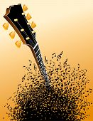 stock photo of g-string  - unusual and Interesting EPS vector Guitar Background - JPG
