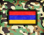picture of ami  - Amy camouflage uniform with flag on it Armenia - JPG
