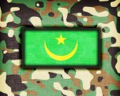 image of ami  - Amy camouflage uniform with flag on it Mauritania - JPG