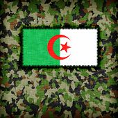 foto of ami  - Amy camouflage uniform with flag on it Algeria - JPG