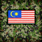 picture of ami  - Amy camouflage uniform with flag on it Malaysia - JPG