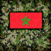 image of ami  - Amy camouflage uniform with flag on it Morocco - JPG