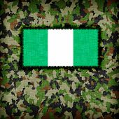 picture of ami  - Amy camouflage uniform with flag on it Nigeria - JPG