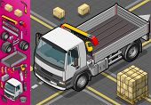 Isometric Container Truck in front view