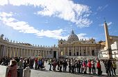 People In Vatican City Wait For The Papal Conclave