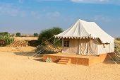 Tent Camping Site Hotel In A Desert