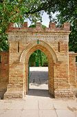 Brick Gate To An Old Castle