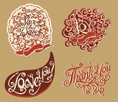 Hand drawn text lettering vector 2