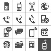 Mobile account management icons. Simplus series. Vector illustration