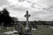 Old Ancient Celtic Irish Graveyard