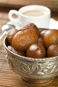 stock photo of milkmaid  - Indian special sweet Gulab Jamun - JPG