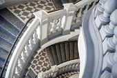 Stairs With Balusters. Abstract Classical Architecture Fragment