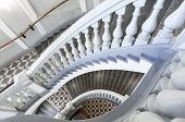 image of balustrade  - Stairs with balusters - JPG