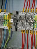 image of contactor  - A part of cubicle with Distribution Rail terminal - JPG