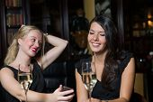 Two Female Friends Out Drinking Together