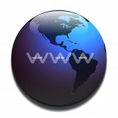 WWW Graphic In Blue