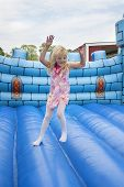 Child In Bouncing Castle