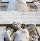 Woman Statue Of The Exchange Building Of Milan