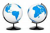 Two Earth Desk Globe