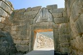 Liongates In Ancient Mycenae