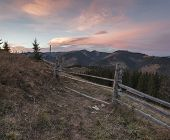 Evening In The Carpathians Near The Village Of Dzembronia
