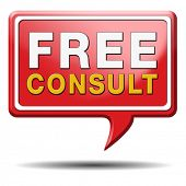 free consultation icon, Gratis consultation service and advice.